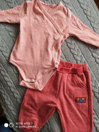 Komplet rozmiar 68 body Tao, spodnie F&F