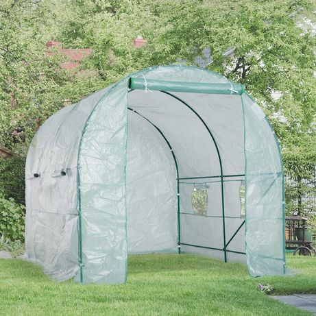 Estufa transparente para jardim 250x200x200 cm verde NOVAS!