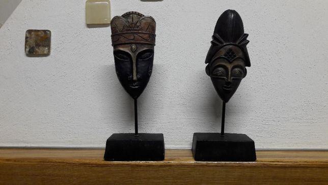 Figurka głowa,maska etno wys 23 cm