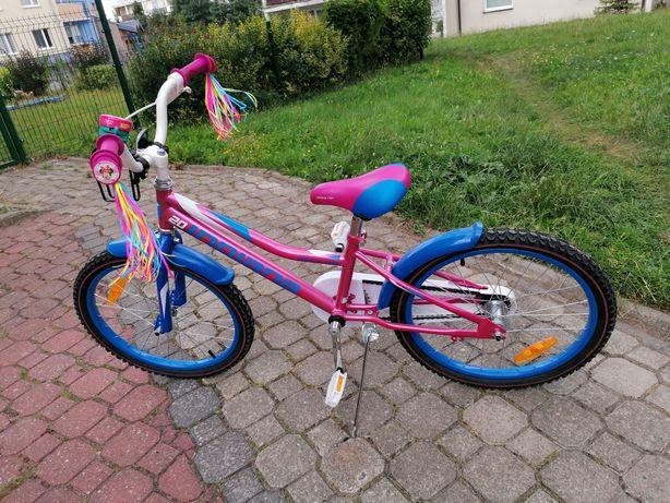 Rower STAN IDEALNY koła 20 cali INDIANA dla dziewczynki 5-8lat