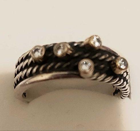 Zloto 585, cyrkonia pierścionek