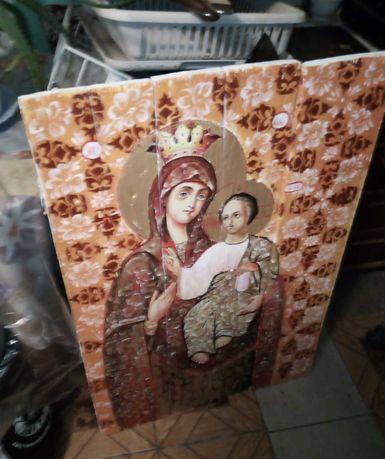 Большая Икона маслом Богородица картина 1 метр