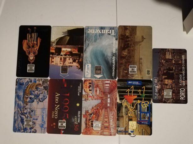 Cartões Portugal Telecom Antigos Coleccionador