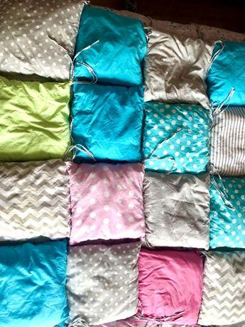 Modułowe poduszeczki do lóżeczka 17sztuk!