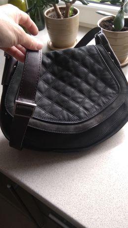 Skórzana torebka listonoszka Adax