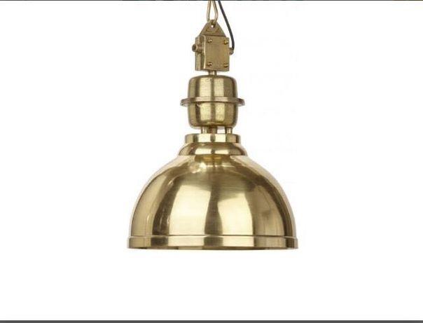 Złota lampa loftowa