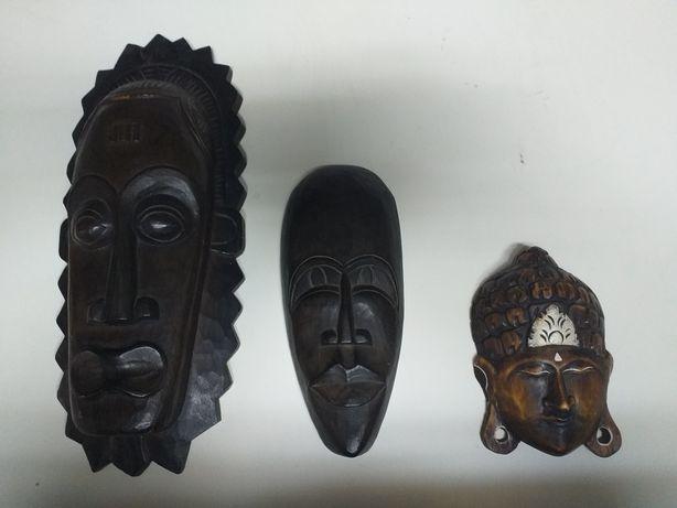 Maski drewniane, egzotyczne.