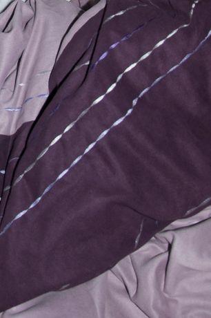 Pościel fioletowa pasy okolo 200x200