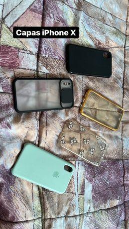 Cinco Capas iphone X
