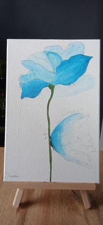 """Obraz """"Kwiat z motylem"""""""
