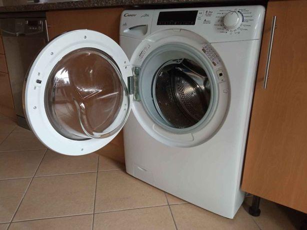 Máquina de lavar roupa e secar Candy