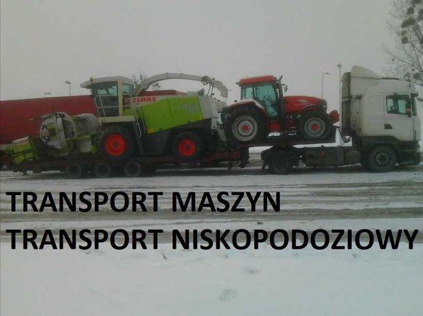 Ponadnormatywny TRANSPORT Rolniczych Budowlanych Niskopodwoziowy Niski