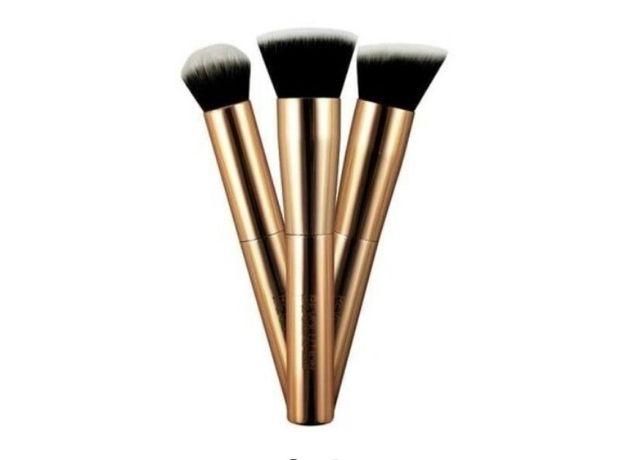 Pędzle profesjonalne Makeup Revolution London zestaw pędzli 3 sztuki