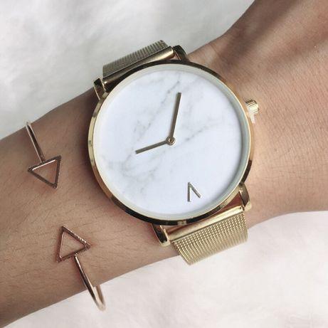 Zegarek na bransolecie kolor złoty biały