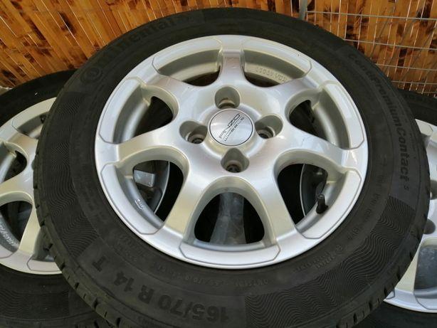 Opony Continental 165/70 R14 81 T + felgi Anzio Wheels