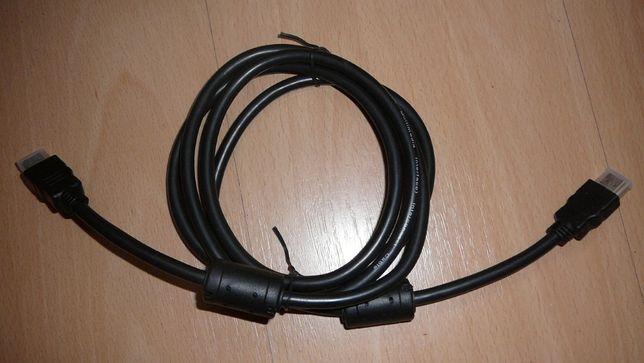 kabel HDMI - HDMI 2m pozłacany z magnezami ferytowymi