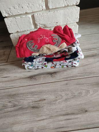 Paka ubranek świątecznych, dziewczynka 62-68