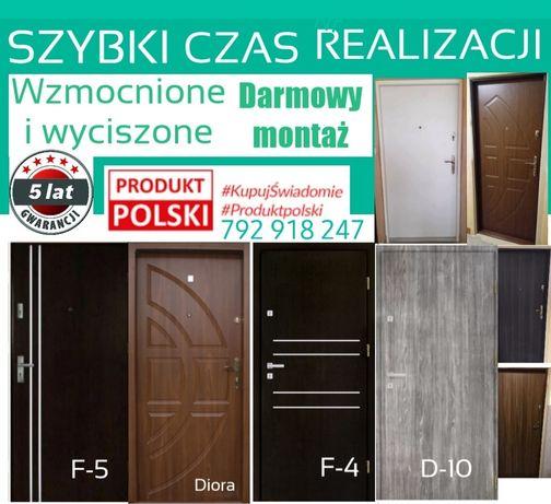 Drzwi do bloku wejściowe wewnątrzklatkowe GRATIS montaż