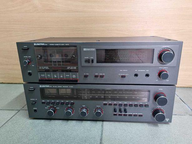 Amplituner Wzmacniacz UNITRA AT9100 + Magnetofon UNITRA M9115