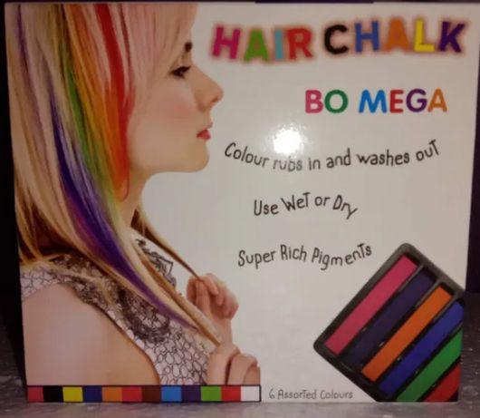 Мелки для окрашивания волос (временная краска)набор 6 шт.