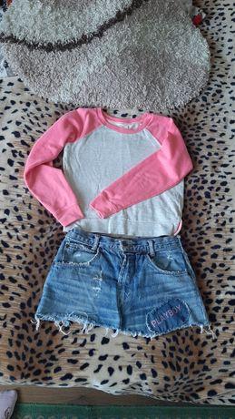 Кофта и джинсовая юбка