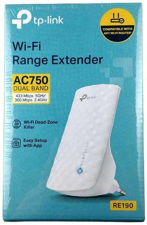 Wzmacniacz sygnału Wifi Nowy z folią TP-LINK AC 750 DUAL BAND