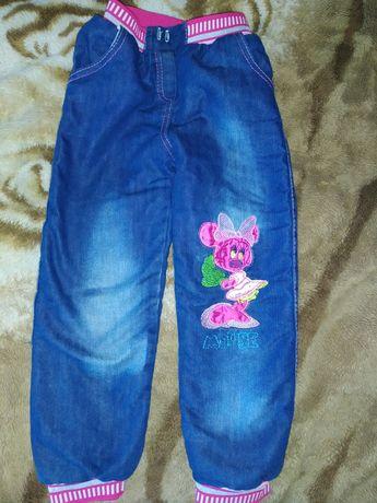 Джинсові теплі штани