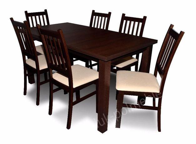 Rozkładany Stół + 6 Krzeseł Salon/Jadalnia! Zestaw Borys Super Cena!