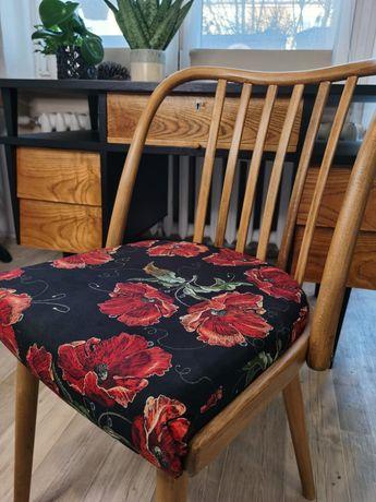Krzesło gięte, prl,Mid-century, odnowione, Wyjątkowy model, st.idealny