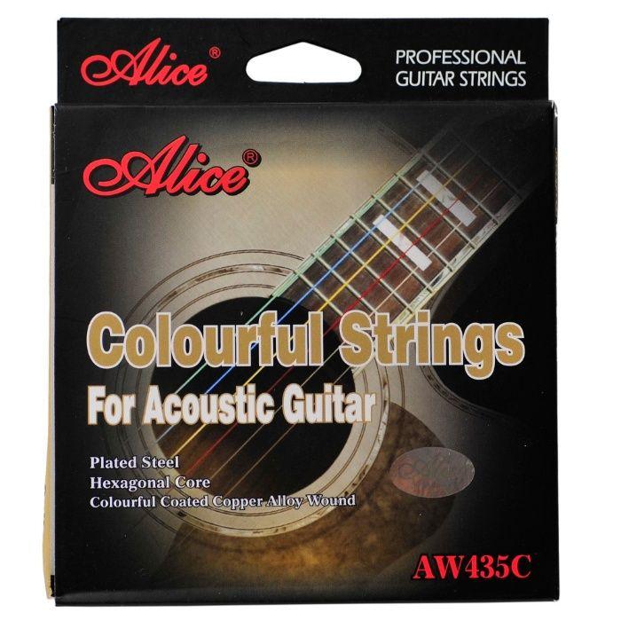 Kolorowe struny do gitary akustycznej Alice AW435C Białystok - image 1