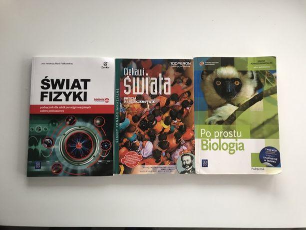 Podręcznik z fizyki, wosu i biologii dla szkół ponadgimnazjalnych