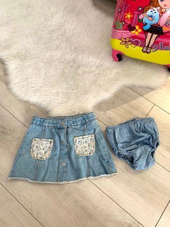 Zara юбка джинс 2-3 года