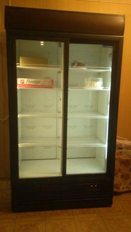 Холодильная витрина двухдверная (бутылочная)