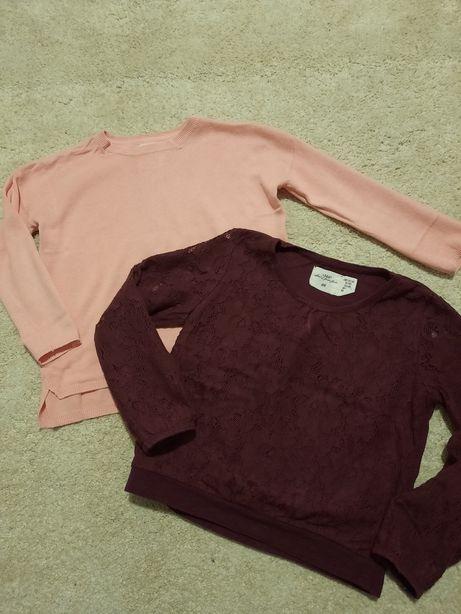 Sweterek Zara + bluzeczka H&M r.110/116