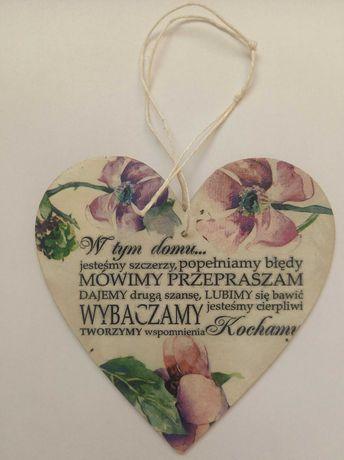 Drewniane serce 15cm. Aukcja charytatywna