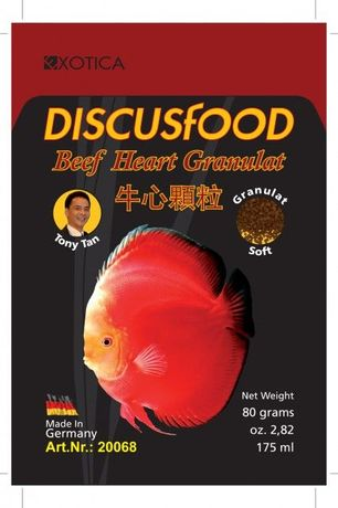 Discusfood Beef Heart Granulat pokarm miks dyskowce EXOTICA DISCUS