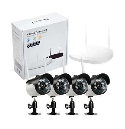 Bezprzewodowa kamera bezpieczeństwa IP + 4-kanałowy zestaw NVR
