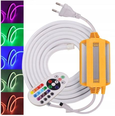 TAŚMA LED NEON RGB (120 DIOD) 230V na metry