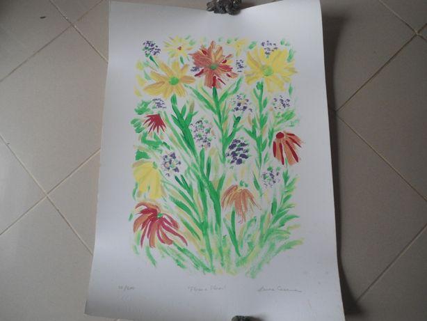 Serigrafia Flores e Flores - Laura Cesana (2007)