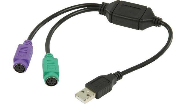 Conversor Adaptador USB PS2 PS/2 Universal +PORTES GRÁTIS