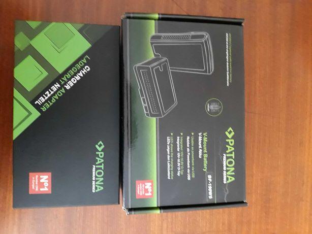 Bateria V-mount Patona 190wh + carregador D-Tap