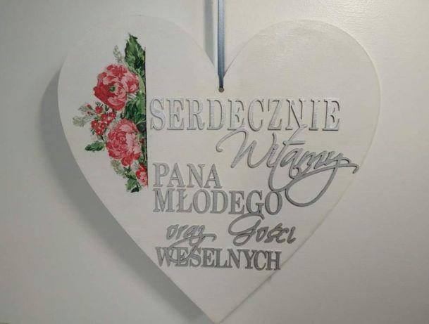 Witamy Pana Młodego Gości weselnych ślub wesele Pan Młody Panna Młoda