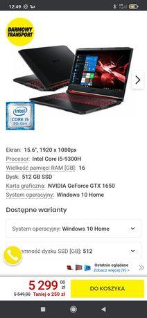 Laptop Nitro 5 16 GB Win 10 Okazja!!!