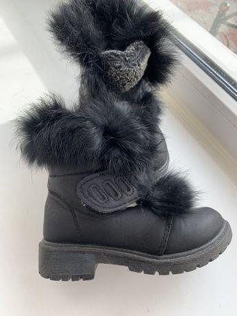 Зимние сапоги ботинки на девочки