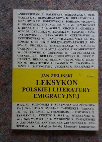 Jan Zieliński: Leksykon polskiej literatury emigracyjnej