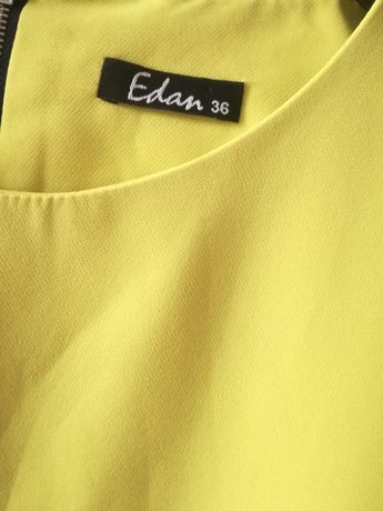 Limonkowa  sukienka 36
