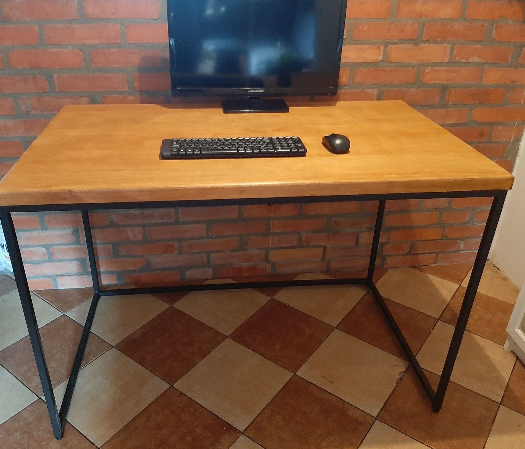 Biurko/Stół industrialne lite drewno.