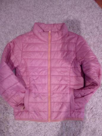 Wiosenno jesienna kurtka różowa kieszenie warto wyprzedaż polecany