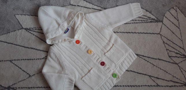 Sweter na polarze, bluza  dla dziewczynki roz. 74/80