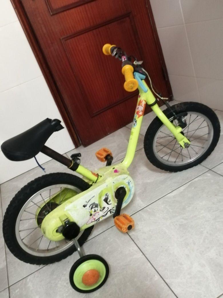 Rodinhas para bicicleta criança unissexo 4-6 anos